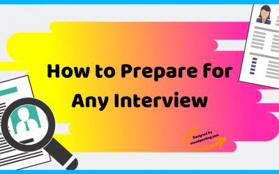 How to Prepare for Any Interview