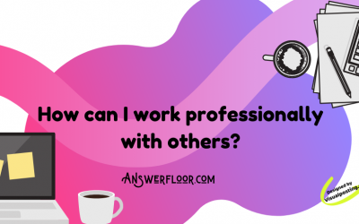 How can I work professionally with others?