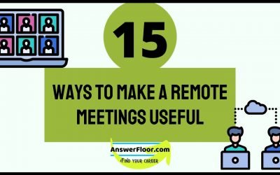 15 Ways To Make A Remote Meetings Useful