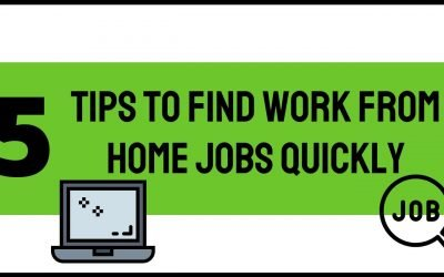 5 Tips to find work from home jobs quickly