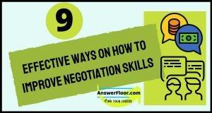 Improve negotiation skills