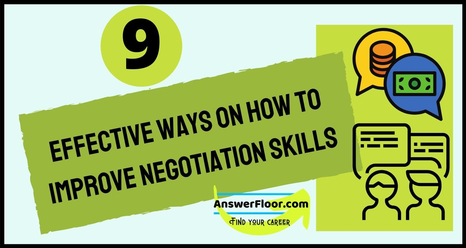 Improve negotiation skills